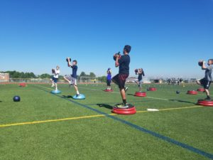 Youth athletes in the speed & agility class